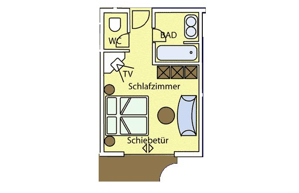 1-Raum-Luxus-Appartement