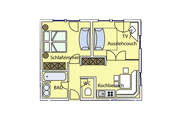 3-Raum-Luxus-Appartement (max. 4 Pers.)