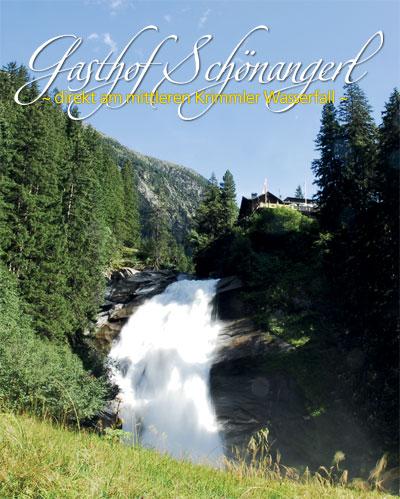 Blick auf das Schönangerl und den mittleren Krimmler Wasserfall
